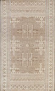 Geometric Traditional Oushak Oriental Area Rug Brown Wool Hand-knotted 5'x8' New