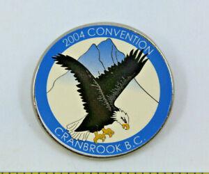 UBCM Union of BC Municipalities 2004 Convention Cranbrook Bald Eagle Pinback Pin