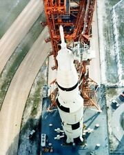 Saturn V rocket with Apollo 8 capsule is moved to the launch pad -New 8x10 Photo