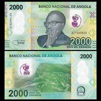 Angola 2000 Kwanzas, 2020, P-New, Banknote, UNC