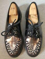 Dr Martens Ramsey Creeper Oxford Shoe - Black / Silver - Mens Size 10*