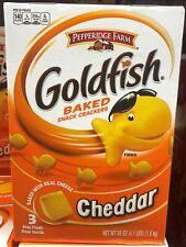 Pepperidge Farm Goldfish Cheddar Cheese Crackers 3 bags 22 oz Free Ship