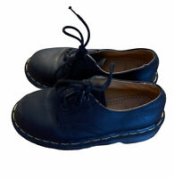 Doc Martens Black Leather Made in England Casual Oxford Shoes Youth Size 1