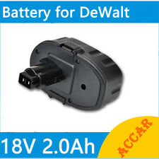 Battery For Dewalt 18V Drill 2.0Ah Ni-Cd DC9096 DE9095 DE9096 DW9099 DW9096 AU