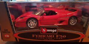 N/Ref 35 VOITURE BURAGO -FERRARI HARD TOP 1995 - Cod.3362 - 1/18 - NBO
