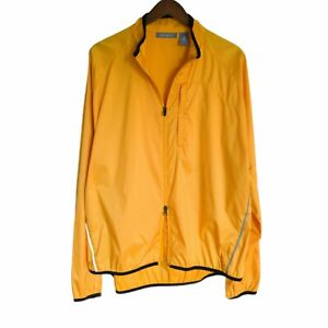 Quest Womens Size Large Full Zip Cycling Jacket Yellow Orange
