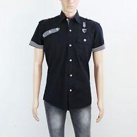 NEW Swade Mens Size S M Black Short Sleeve Shirt
