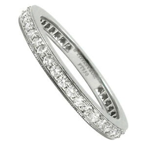 Tiffany & Co. Legacy Platinum Eternity Diamond Band Ring  $4,000