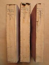 MOREAU DE BRASEY : MEMOIRES POLITIQUES, amusans et satiriques,1735. 3 vol.Russie