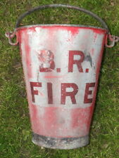 More details for large original riveted b.r. fire bucket. heavy duty.