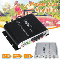 Lepy LP-838 Car Amplifier HiFi 2.1 Channel Super Bass Audio Stereo Subwoofer Amp