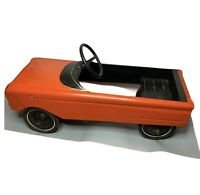 "Antique Pedal Car Vintage (Murray?) Collectable Toy - Burnt Orange - 34"" Long"