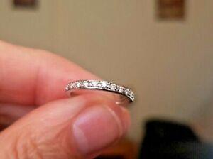 H Samuel 18 ct White Gold  tdw 0.13 Carat Diamond Wedding Ring Size H1/2 - i