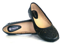 Womens Ladies Girls Flat Office Work Cut Out Pumps Ballerina Dolly Shoes Size