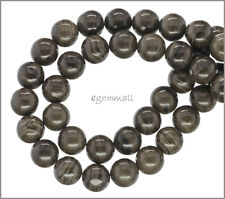 """15.5"""" Fossil Wood Agate Round Beads ap.10mm #54081"""