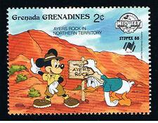WALT DISNEY GRENADA - GRENADINES MICKEY DONALD 1 Francobollo 1988 nuovo