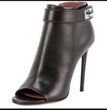 Givenchy Peep Toe Booties Black Sz 6 (36) NIB Retails $995
