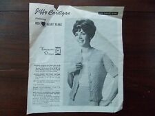 Vintage Jiffy Cardigan No. 805 Pattern Leaflet Featuring Red Heart Yarns