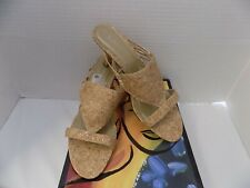 Ladies shoes size 8 by FIONI New in original box Tan/cork design