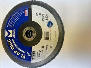 flap disc premium zirconia size 7 grit 36 type 29 MAX RPM