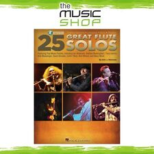 New 25 Great Flute Solos Music Book with Online Audio Access