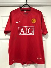 2007-09 Manchester United Home Shirt - Medium -*Nani 17 On Back*