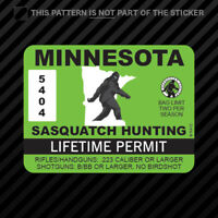 Minnesota Sasquatch Hunting Permit Sticker Vinyl Bigfoot 13igfo0T MN