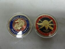 CHALLENGE COIN USMC UNITED STATES MARINE CORPS FORCE RECON SKULL JUMP WINGS SWOR