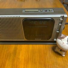 1979 National RC-205 FM AM radio with digital alarm clock vintage item silver