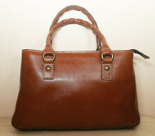 PATRICIA NASH 'Tan' orange brown leather Angela satchel shoulder / hand bag NWT