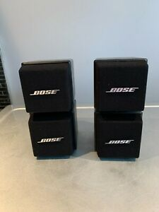 Bose AM-5 Acoustimass Cube System Two Speakers (Pair) Black Satellite TESTED
