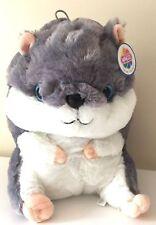 Giant Large Hamster Plush 13'' Extra Soft Stuffed Animal Grey Toy by Nanco. NWT.