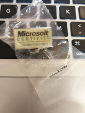 Rare Microsoft Certificated Solution Developer Pin Badge sealed mint!!!