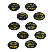 Tree Wall Plaques PLEASE RING THE BELL/CLOSE THE GATE/NO SMOKING Garden Sign