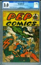 Pep Comics #31 CGC 3.0 1st Mr. Lodge-Nazi cover-Rare-2088952004