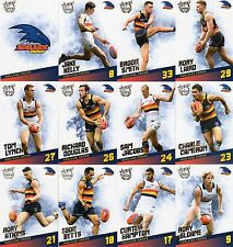 2017 AFL SELECT CERTIFIED ADELAIDE CROWS FULL SET OF COMMONS 12 CARDS !!!