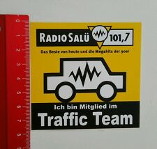 ADESIVI/Sticker: radio salü 101.7 - Traffic Team (01071613)