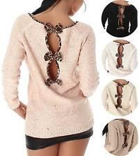 Damen-Pullover aus Polyester mit Tiermuster