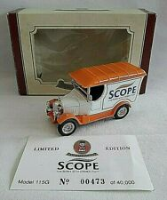 OXFORD DIECAST BULL NOSE MORRIS VAN SCOPE CEREBRAL PALSEY DIECAST BOXED LIMITED