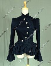 Victorian Blazer Riding Habit Winter Coat Jacket Theater Costume Navy C032 Xl