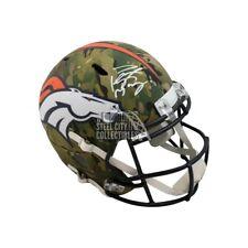 Peyton Manning Autographed Broncos Camo Replica Full-Size Helmet - Fanatics