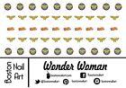 Wonder Woman Waterslide Nail Decals - 50 PC