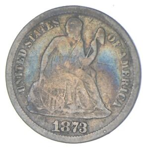 Historic 1873 Seated Liberty Dime *937