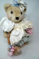 """Shabby Chic Bear Shirley Hock First Sorrow How I Came to Be 17"""" Rabbit CoA"""