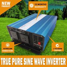 NEW Pure Sine Wave Power Inverter 2000w - 6000w 12v - 240v AUS plug Caravan Rv