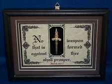 """Bible Verse Plaque/Signs""""NO WEAPON FORMED AGAINST...SHALL PROSPER""""Christian Gift"""