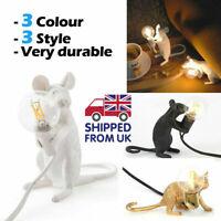 Rat Table Lamp Mouse Light Bedside Resin Lamp Home Office Desk Decor