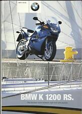 BMW K 1200 RS MOTORBIKE  SALES BROCHURE 2000 / 01