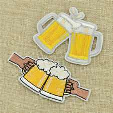 Beer Mug Embroidery Patches Iron on for Clothing Garment Appliques Accessories