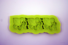 3 Fleur De Lis - Silicone Border Mold - flower mold